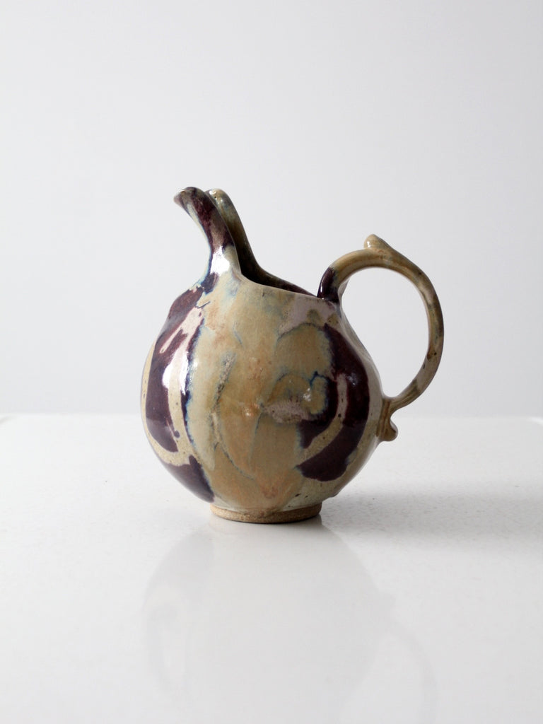 mid-century studio pottery pitcher