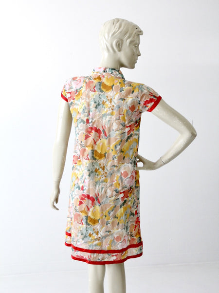 vintage 70s floral shift dress