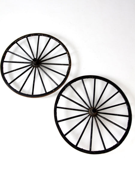 antique wooden wagon wheels