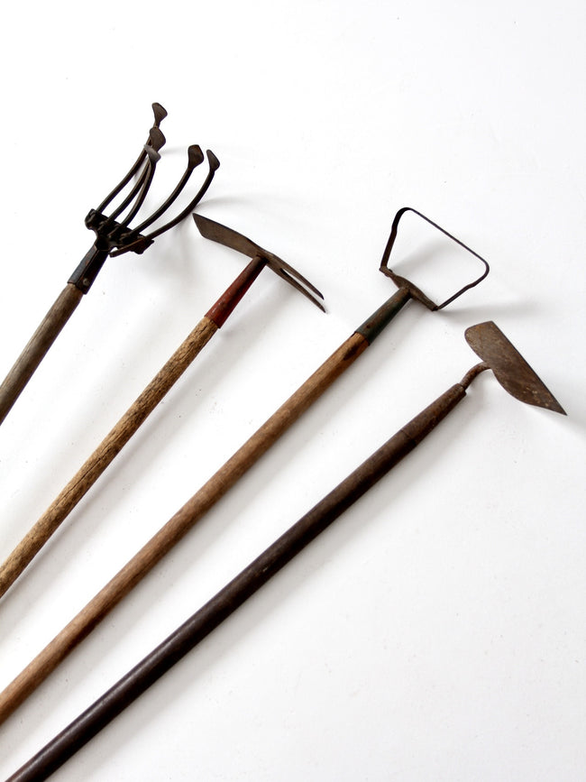 vintage garden tool collection