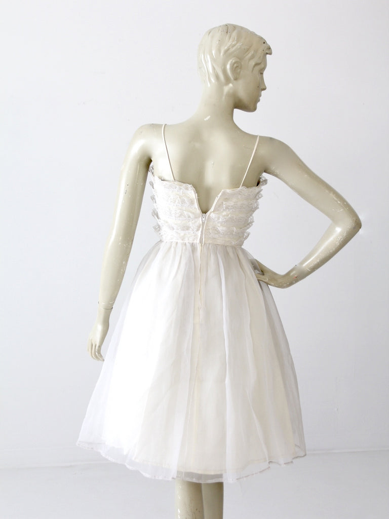 vintage white party dress