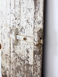antique primitive white wood door