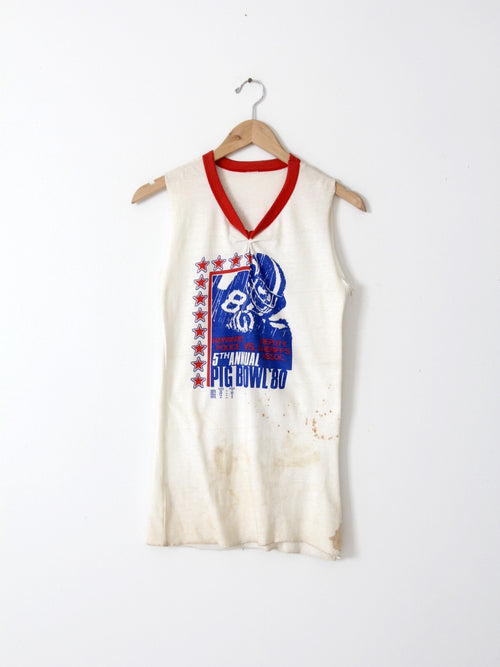 vintage Pig Bowl football tank top graphic tee