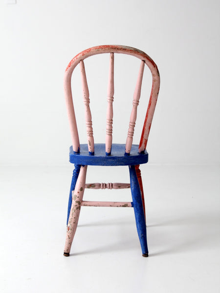 children's antique spindle back chair