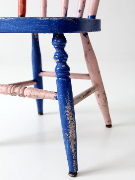 children's vintage turned leg chair