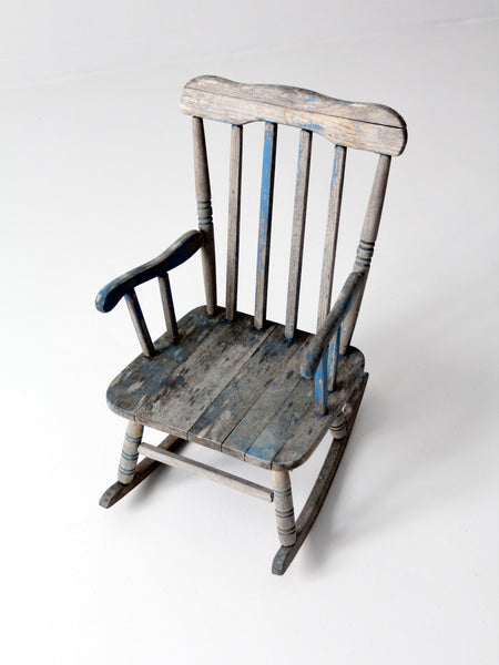 vintage child rocking chair