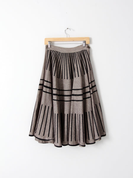 vintage striped full skirt