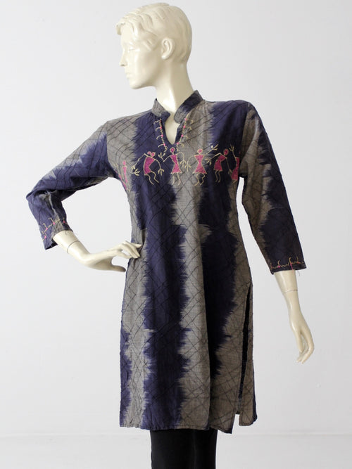 vintage tie-dye hippie kurta top tunic dress