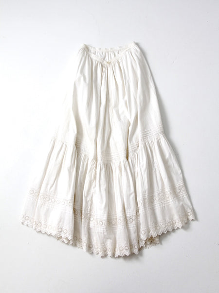 antique Victorian skirt petticoat