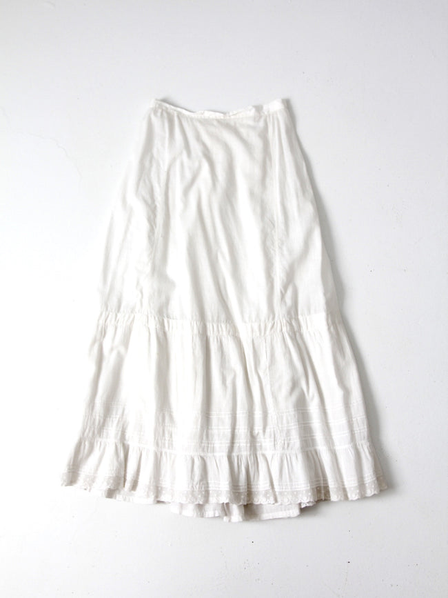 Edwardian petticoat antique skirt