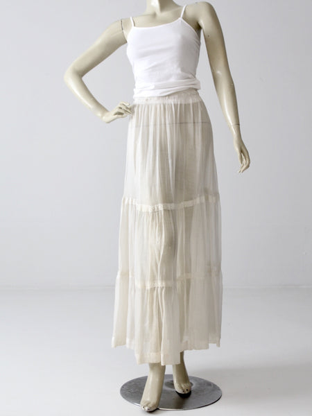 antique edwardian petticoat
