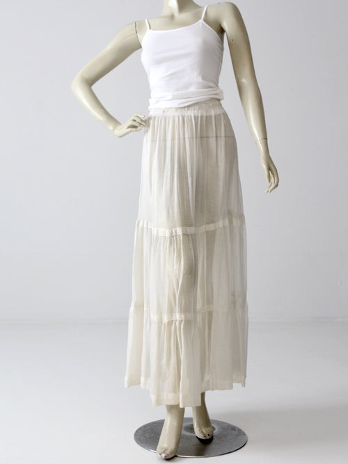 antique Victorian petticoat maxi skirt