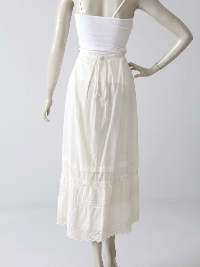 antique Edwardian petticoat skirt