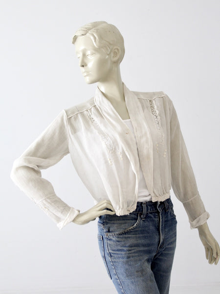 antique Edwardian blouse, the welworth