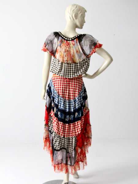 Jean Paul Gaultier chiffon skirt and top set