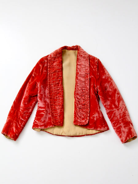 antique velvet jacket