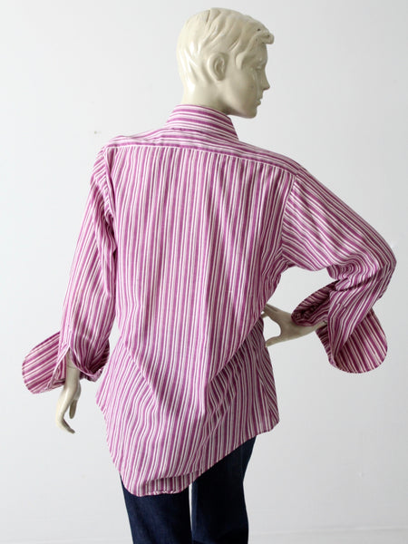 vintage striped menswear shirt