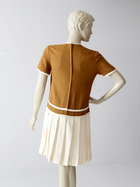 vintage 60s Bobbie Brooks drop waist dress