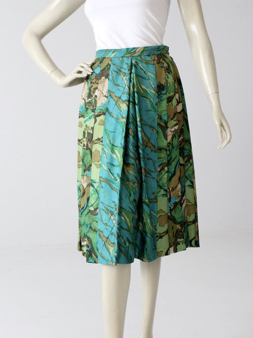 vintage 60s pleated silk skirt by Eddy George