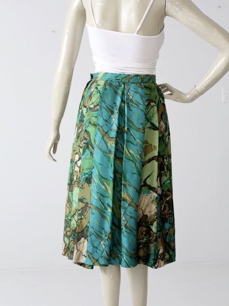 vintage Eddy George silk skirt