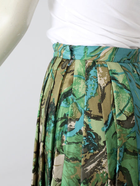 vintage pleated silk skirt