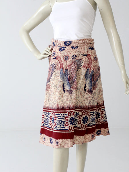 vintage 70s hippie wrap skirt