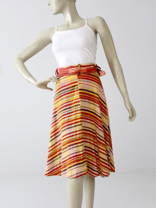 vintage 70s gauze cotton hippie wrap skirt