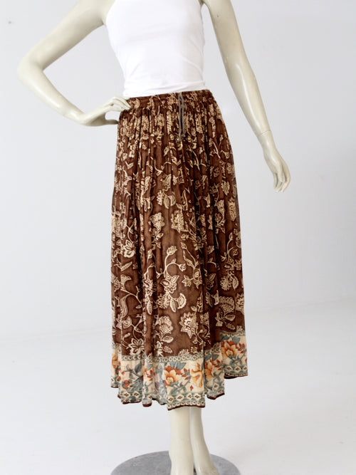 vintage sheer floral hippie skirt