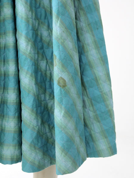 vintage 50s quilted circle skirt
