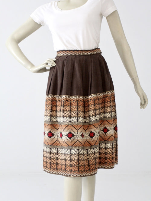 vintage southwest embroidered skirt