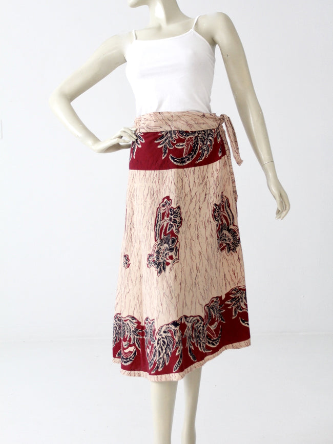 vintage 70s India cotton wrap skirt