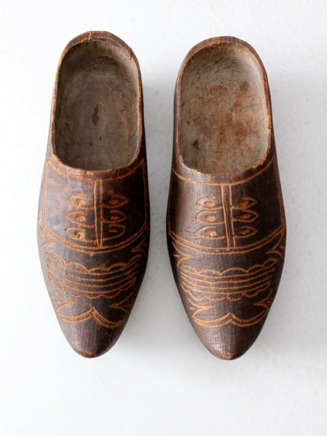 antique Dutch wood clogs