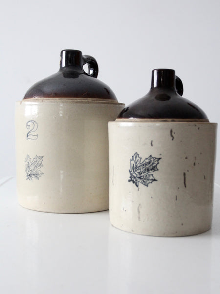 antique Western Stoneware jugs set of 2