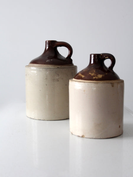 antique stoneware jug set
