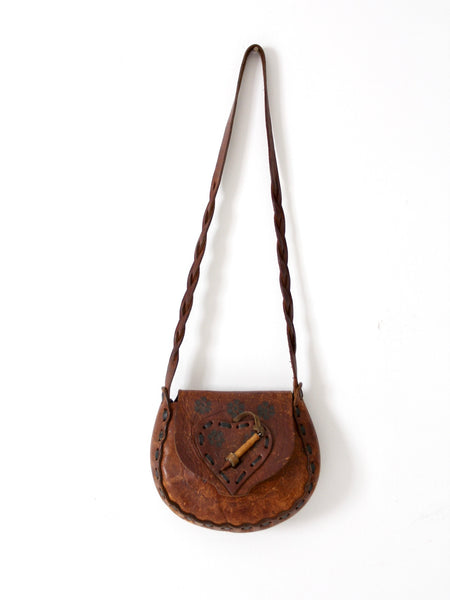 vintage 60s hippie leather bag