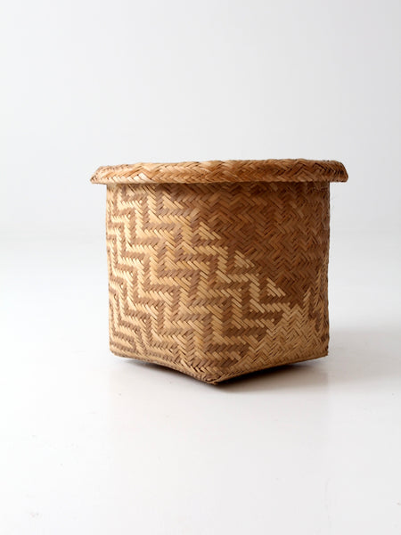 vintage Indonesian storage basket