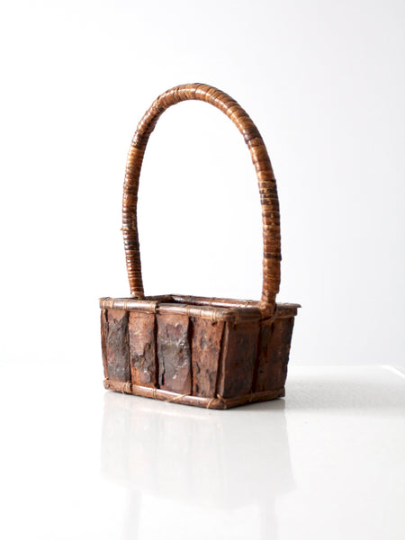 vintage bark basket