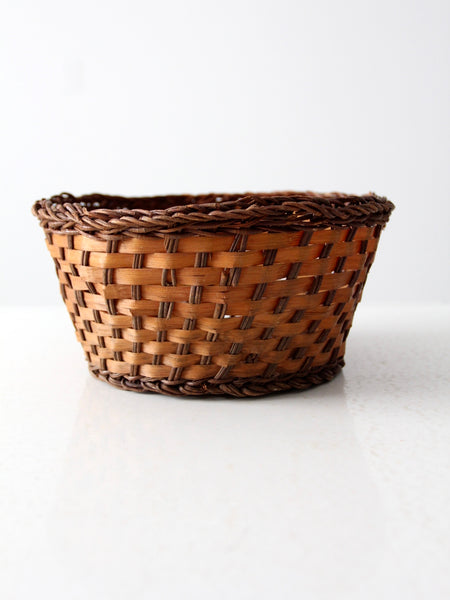 vintage two tone basket