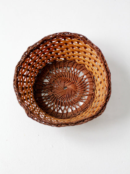 vintage basket bowl
