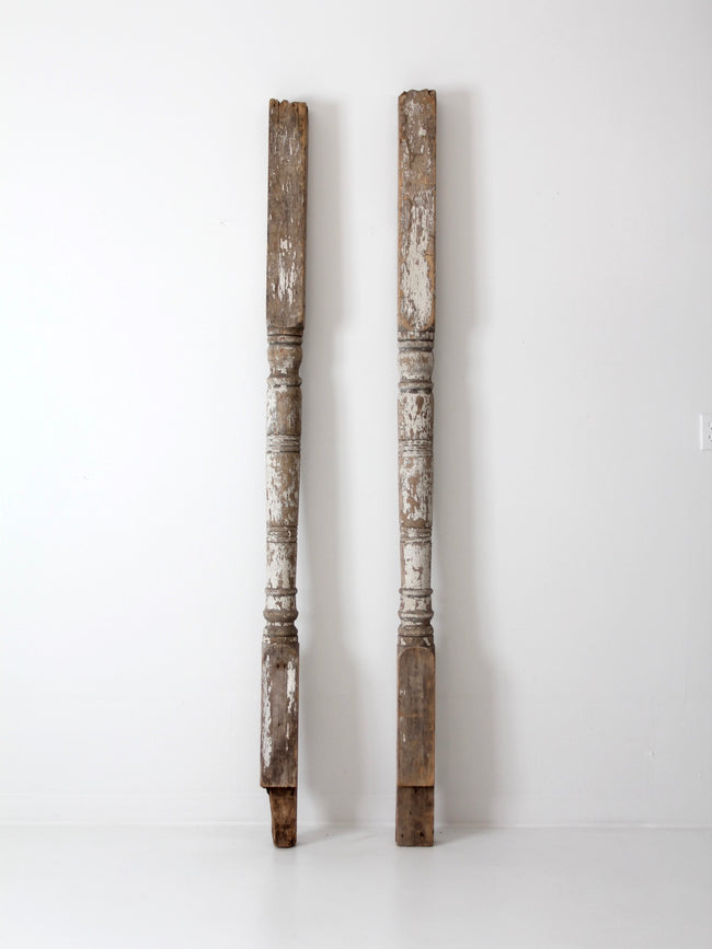 antique architectural wooden columns