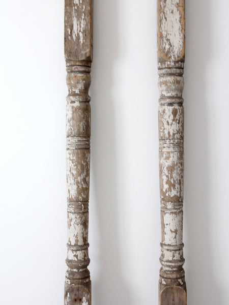 antique architectural wood columns