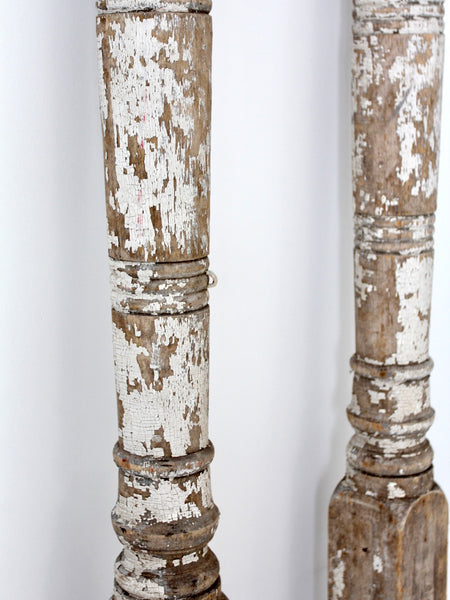 antique architectural turned wood posts