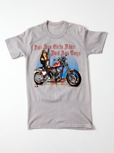 vintage Bad Ass Grils Ride Bad Ass Toys motorcycle biker t-shirt
