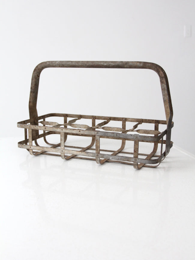 antique milk bottle carrier