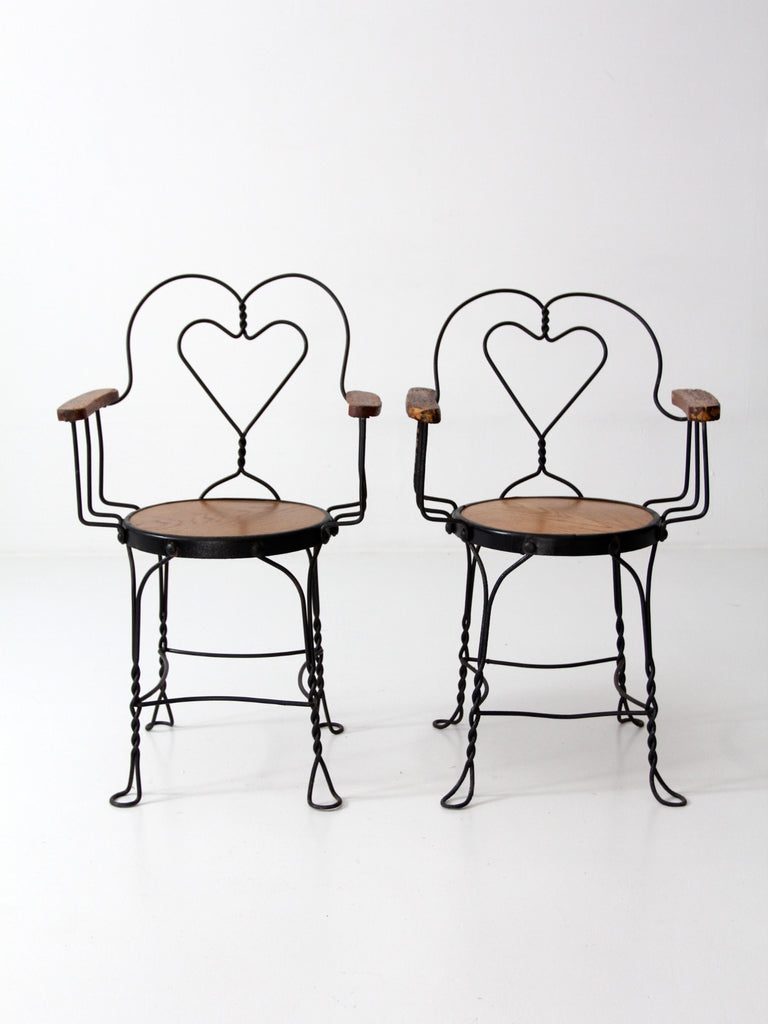Vintage Ice Cream Parlor Arm Chairs Set Of 2
