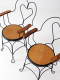 vintage ice cream parlor arm chairs
