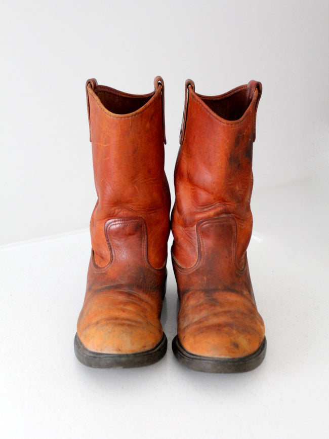 vintage Red Wing Pecos pull on boots size 10.5