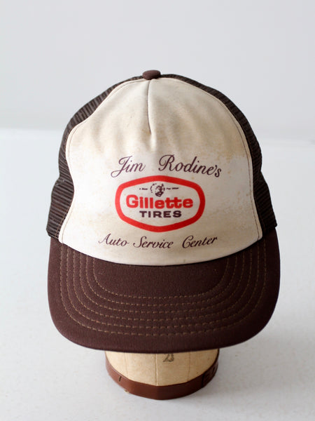 vintage Gillette Tires trucker hat
