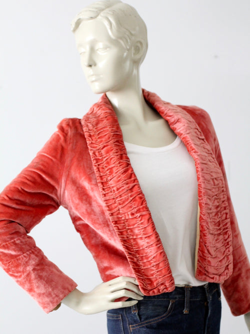 antique velvet blazer