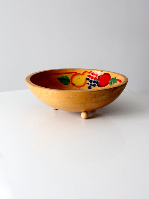 vintage painted wooden kitchen bowl